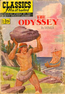 Cover of the Classics Illustrated comic book, 'The Odyssey by Homer'