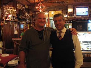John K. and the proprietor of Mezget, an excellent restaurant in Kusadasi, Turkey