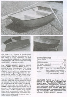 Dinky dinghy from Book of Boat Designs by Glen-L Marine Designs