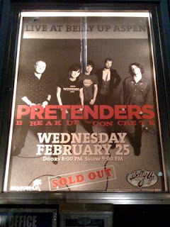 The Pretenders poster in front of Belly Up in Aspen