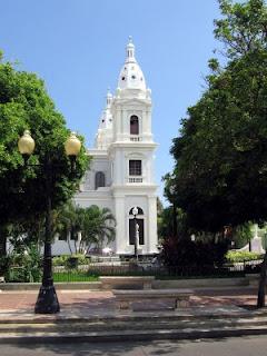 Catedral Nuestra Senora de Guadalupe on Plaza las Delicias in Ponce, Puerto Rico