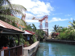 Mamacita's, the canal and the drawbridge in Dewey on Culebra