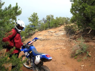 Kokopelli's Trail: 'Steep difficult trail'