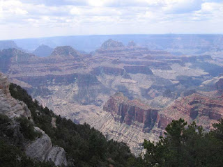 View of the Grand Canyon from the North Rim