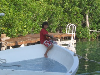 Marina Paraiso owners' son fishing for snapper