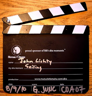 Clapboard for 'my aha moment' with Mutual of Omaha