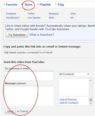 How to share Youtube video via email