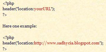 How to do PHP redirect