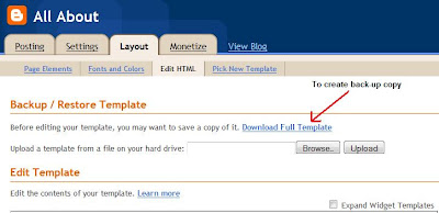 Create copy of blog template