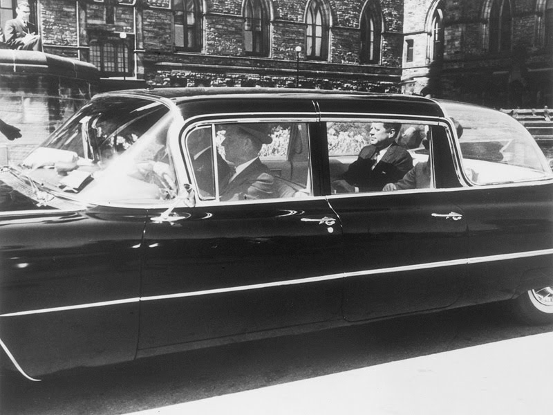 JFK in another bubbletop type car