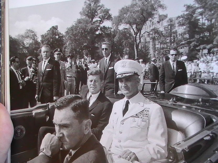 Agents Yeager, Godfrey, & Payne beside JFK's limo