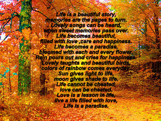 Download this Posted Own Life Poems picture
