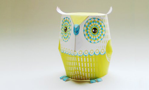 3d paper owl with printable template