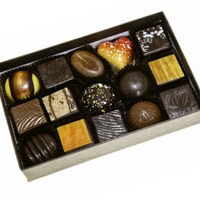 au coeur des chocolates beautiful open box of chocolates