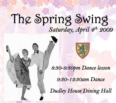 Dudley House Spring Swing 2009