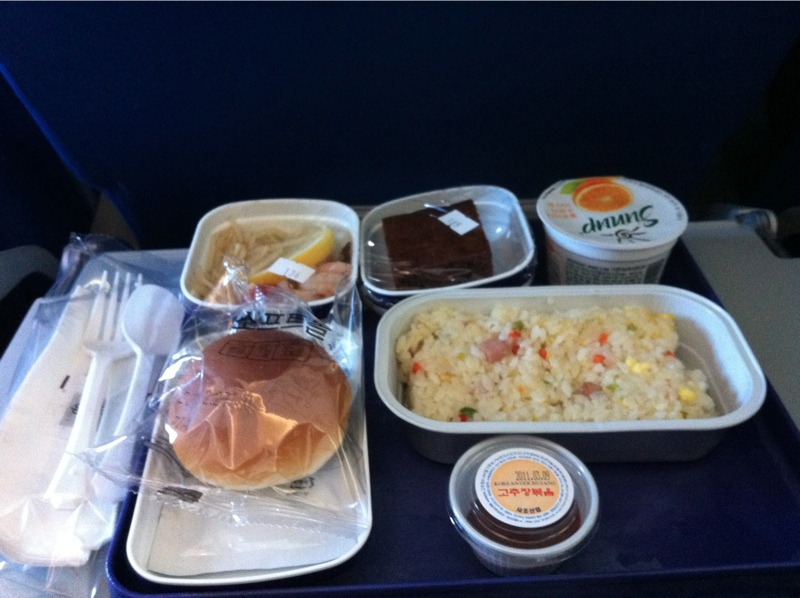 Flying on a jetplane shanghai airplane and airport food - China eastern airlines bangkok office ...