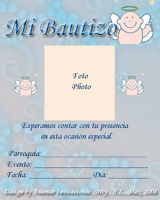 Plantilla Bautizo
