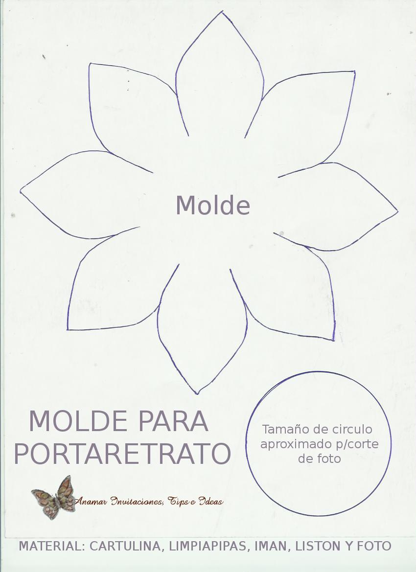 Portaretratos en foami moldes gratis - Imagui