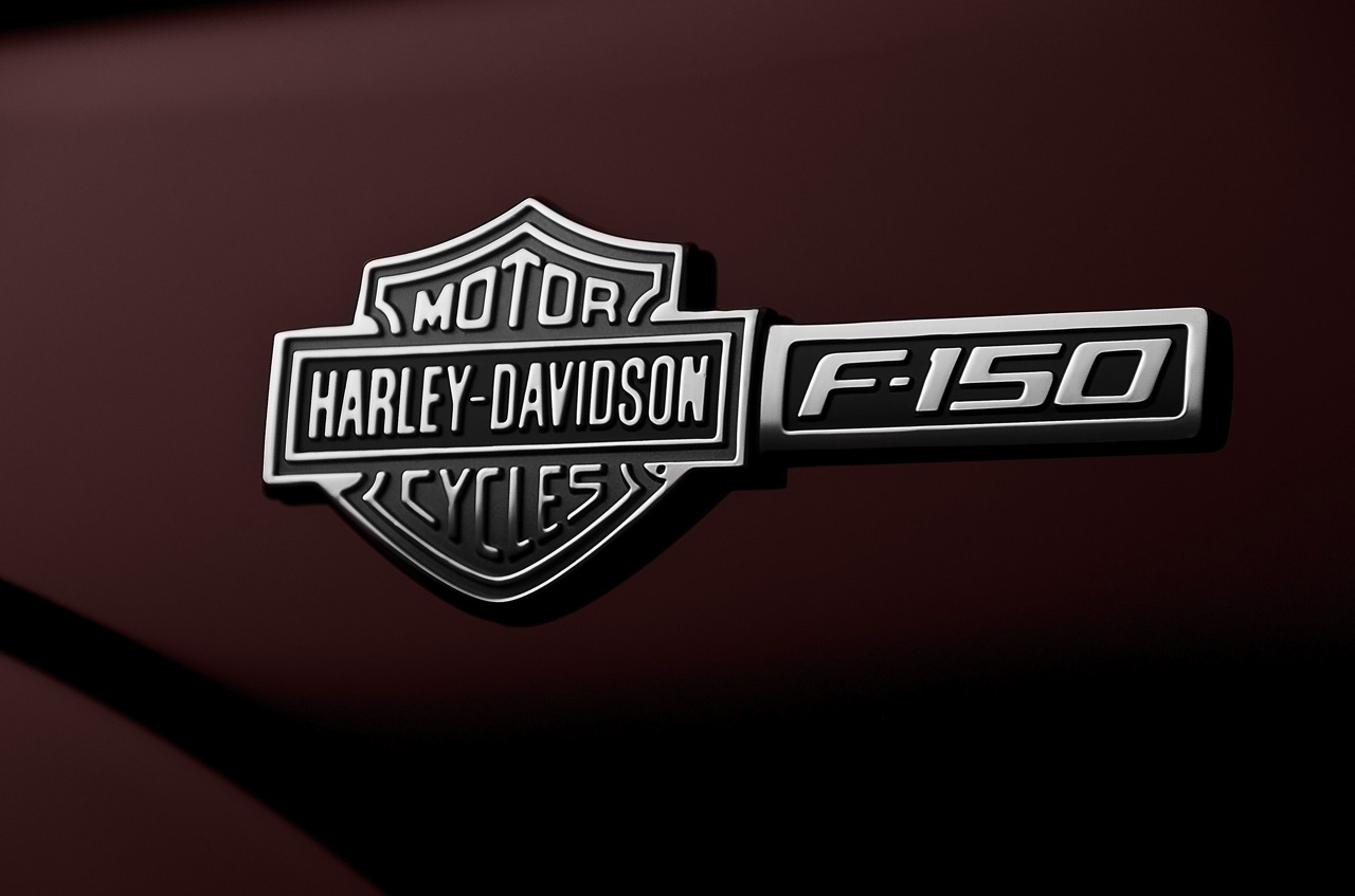 Harley Davidson Logo f-150 black and white