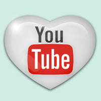 youtube logo in heart
