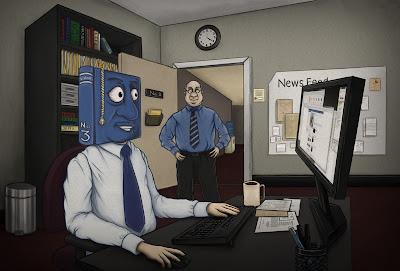 Anti Facebook cartoon