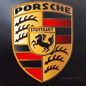 Porsche logo with black background