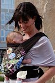 Mei Tai com bebê pequeno, a partir de 3 meses