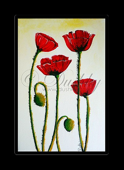 Poppy flowers acrylic mightylinksfo Image collections
