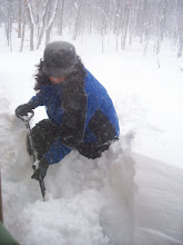 Shoveling the white stuff