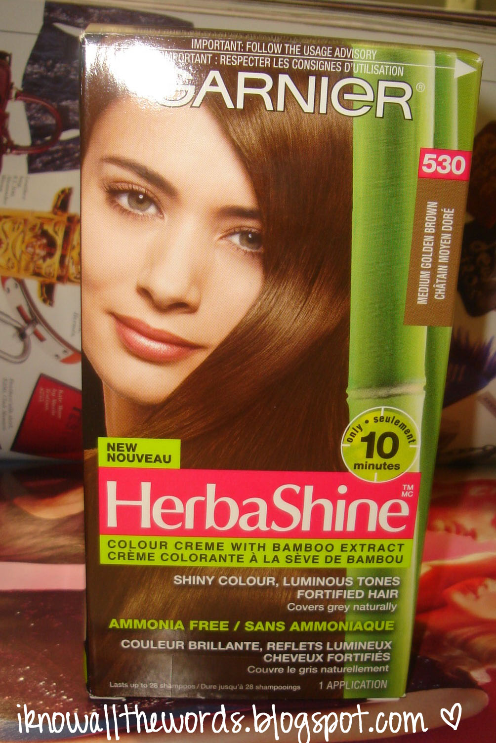 Review Garnier Herbashine Shade 530 Medium Golden Brown I Know