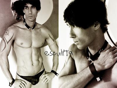black and white gay photoshoot alexy tyler model for esculpta