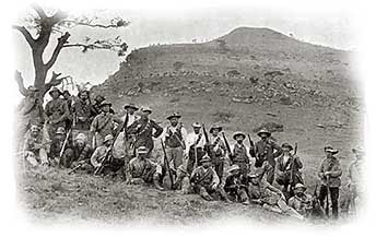 Boer forces at Spionkop 1900