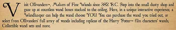 Ollivander's offer