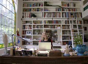 Cornelia Funke's study