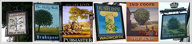 The Bush pub signs