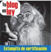 Estampita de certificación
