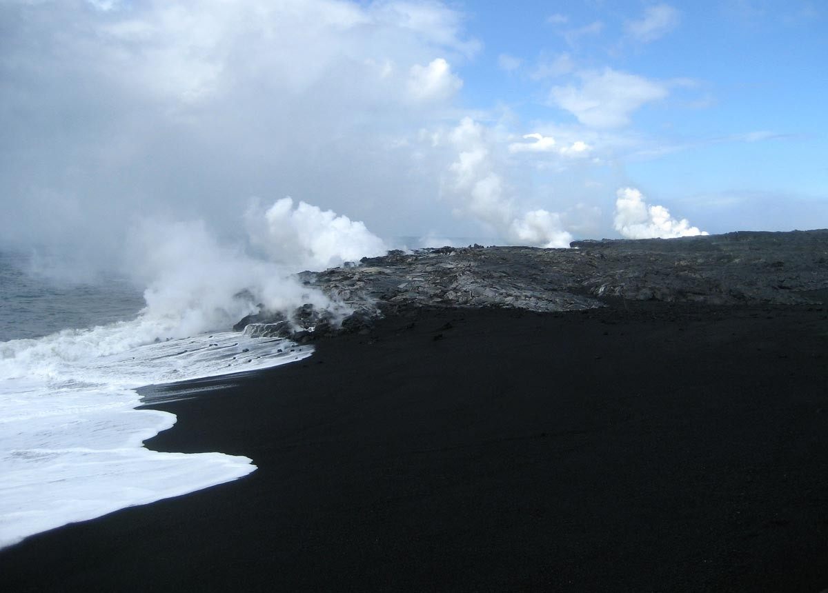 May 2010 adventures of life Black sand beach hawaii