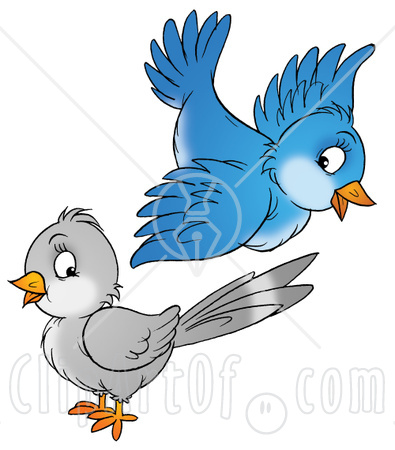 Pin Blue Bird Silhouette Clip Art Vector Online Royalty ...