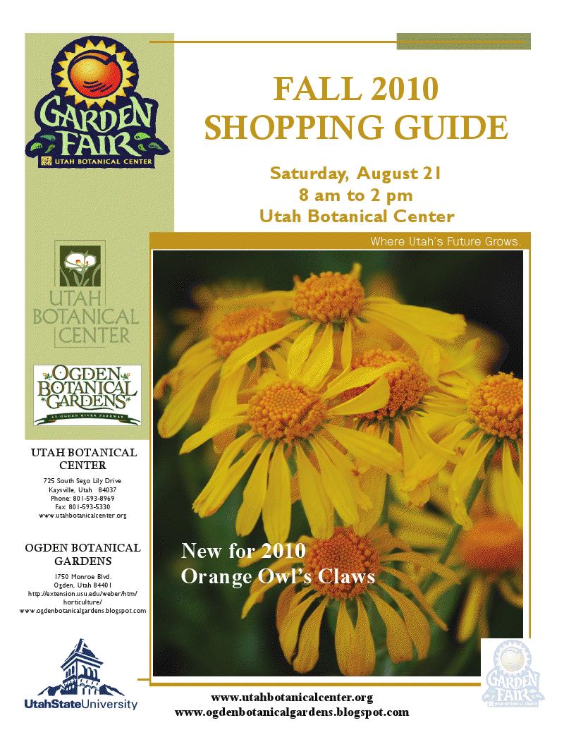Ogden Botanical Gardens: Garden Fair Shopping Guide