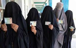 Votando en Afganistán 2009