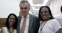 O Ministro da Cultura Juca Ferreira e as educadoras Jô Moraes e Claudia Pessoa.