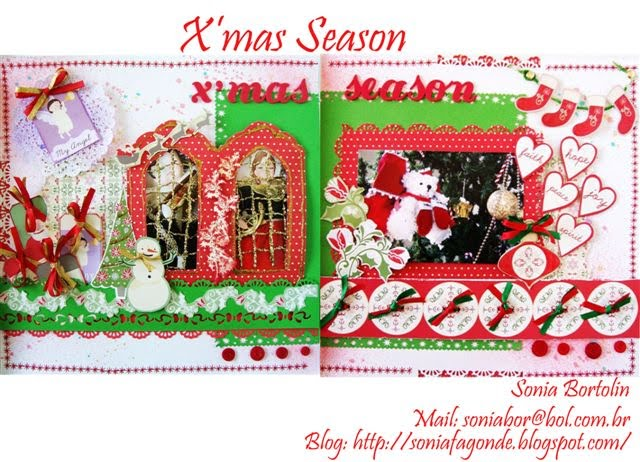 Layout projeto Scrap Village Merry Christmas