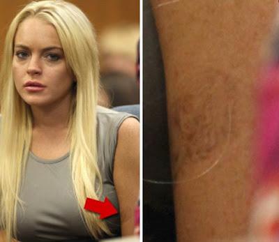 Lindsay Lohan's Little girl tattoo (Photo). Lindsay Lohan has an unfinished