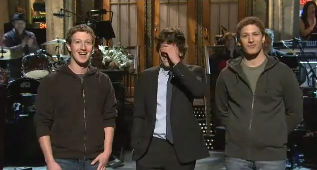 First time SNL host Jesse Eisenberg, who is nominated for Best Actor in the