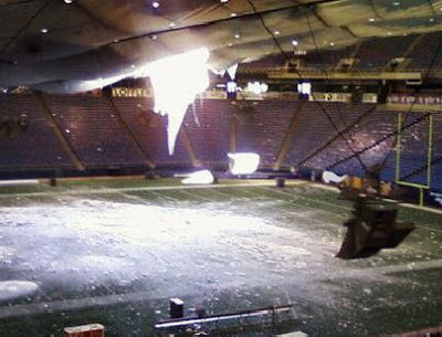 METRODOME ROOF COLLAPSE INTERNAL