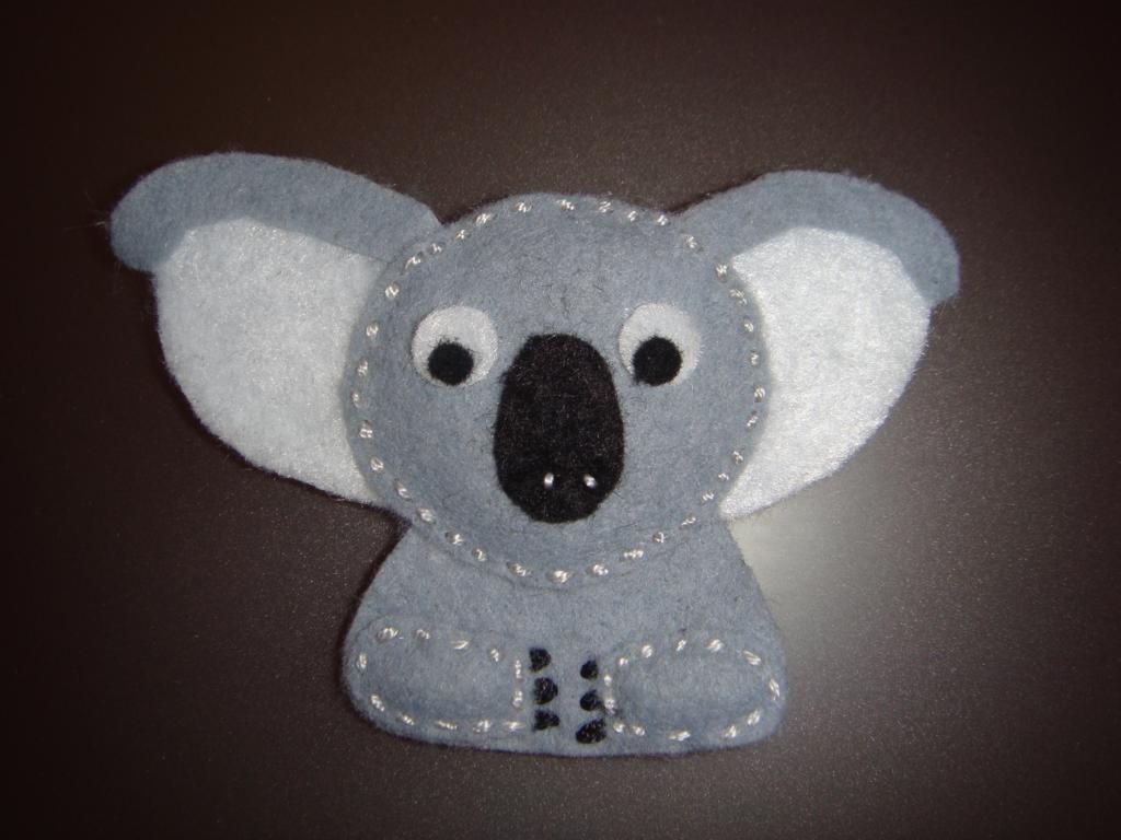 Fieltrinas koala detalle en fieltro para regalar - Detalles de fieltro ...