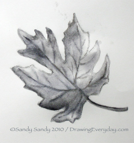 how to use watercolour pencils to draw autumn leaves