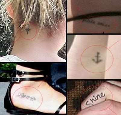 TATTOOS DESIGN: Celebrity Hilary duff tattoo designs Hilary Duff Mean