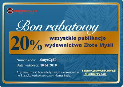 ebooki, audiobooki wydawnictwa  ZŁOTE MYŚLI - taniej o 20%