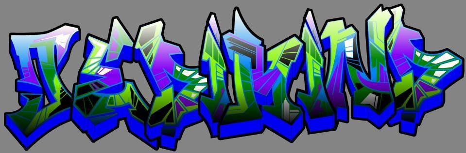Letras Usadas para a pratica do Grafite